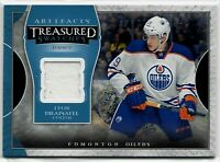 2015-16 UD Artifacts Leon Draisaitl Jersey Edmonton Oilers SP Rare Swatches NHL