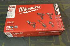 Milwaukee 2498-25 M12 Li-Ion 12v 5-Tool Combo Kit, Items Are NEW!