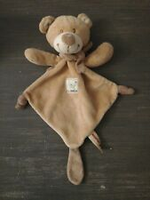 Doudou Nicotoy Ours Plat Marron Triangle Noeuds