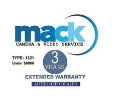Mack 3-Years Accidental Warranty (#1321) For Canon EOS-1D X Mark II DSLR Camera