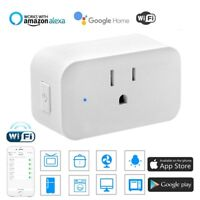 Mini WiFi Smart Plug Works with Amazon Alexa Assistant 3 prong Single Socket