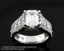 A.JAFFE 1.54CT TW VS1 F, Semi-mount Engagement Ring (1767)