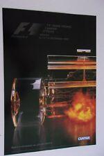 Affiche Automobile  GRAND PRIX DE FORMULE 1  MONZA  2001