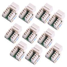 10x RJ45 CAT5e Keystone Jack Ethernet Network Module Wall End Plug Connector Joy