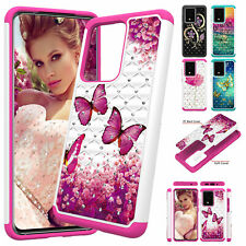 For Samsung Note20 Ultra A11 A21 A51 A71 A01 Diamond Hybrid TPU Hard Case Cover