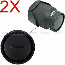 2pcs Rear Cap Cover for Sony Micro SLR Camera E FE SEL Mount Lens FE35/2.8