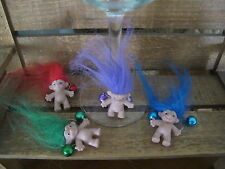 Mixed Lucky Troll Wine Charms x4 Quirky Novelty 80's Party Wine Glass Charms New