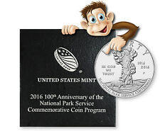 2016-P 100th Anniversary National Parks Proof Silver Proof Dollar