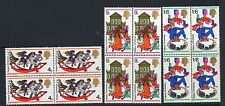 GB 1968 Christmas unmounted mint set as blocks of 4 stamps