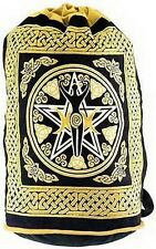 PENTAGRAM GODDESS BACK PACK - Wicca Pagan Witch Yoga Goth Hippie  Handbag