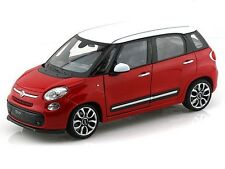 Welly 2013 Fiat 500L Red With White Top 1/24 Diecast Car Model 24038