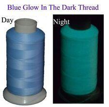 3300Yards Spool Glow In The Dark Machine Embroidery Thread,Blue,Extra Glow Yarn
