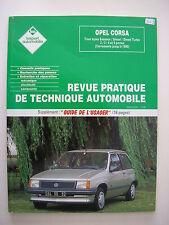 revue technique automobile RTA neuve  Opel CORSA   tous types ..