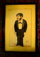 *GILBERT & SULLIVAN: ARTHUR SULLIVAN FRAMED 1880s VANITY FAIR PRINT*