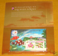 Singapore 95 Orchids Imperf sheet limited 1000 RARE