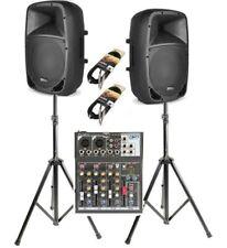 IMPIANTO KARAOKE SISTEMA AMPLIFICATO 2 casse amplificate 800w + mixer treppiedi