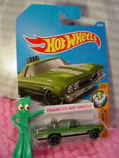 '68 EL CAMINO #333/365✰green/chrome✰MUSCLE MANIA✰2017 i Hot Wheels P