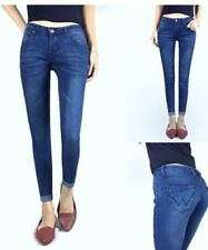 LADIES SKINNY JEANS (DARK BLUE) SIZE 32