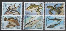 (W1218) CAPE VERDE, 1980, FISH, MI 419/24, MNH/UM, SEE SCAN