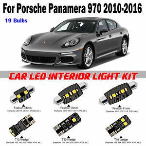 19pcs Xenon White LED Interior Dome Light Kit For Porsche Panamera 970 2010-2016