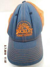 cf65f806f1d Buckley Powder Company Snapback Trucker Hat Cap Adjustable Orange Blue  Blasters