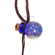 HOT fashion Oil Perfume Bottle Vial blue pendant Necklace Fragrance Diffuser NEW