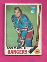 1969-70 OPC # 39 RANGERS DON MARSHALL VG+ CARD (INV# C5639)