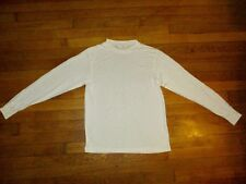 VINTAGE NORM THOMPSON womans sz L ivory crew neck 100% silk under shirt liner