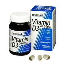HEALTH AID VITAMIN D3 20,000IU - 30 CAPSULES