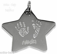 Acero Inoxidable Forma De Estrella Colgante personalizado tu Bebés