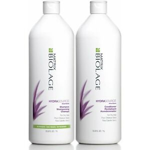 Matrix Biolage HydraSource 1 Litre Shampoo +Detangling Solution