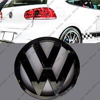 Glossy Volkswagen Golf VW Mk6 VI Rear Black Badge Gloss Logo Emblem Boot 110mm