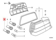 Genuine BMW E36 Sedan Socket For Turn Signal OEM 63211387363