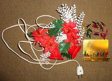Vtg Christmas Miniature Screw-in Base Light Up Decoration Plastic Bells 46 Bulbs