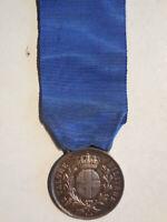 medaglia al valore militare in argento Regno d'Italia FGZ Zecca non incisa