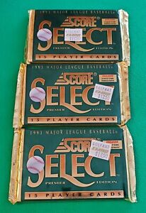Three (3) 1993 Score Select Baseball Cards Unopened Packs (15 Cards/Pack)