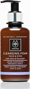 Apivita Foam Cleanser Face & Eye with Olive & Lavender, 200ml