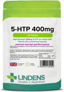 5Htp 5 Htp Tablets Helps Insomnia Anxiety Serotonin Stress 60 400mg
