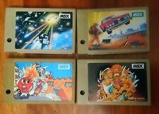 LOTE 4 CARTUCHOS MSX DE SONY