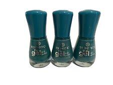 Essence The Gel Nail Green Blue Nail Polish #64 Island Hopping - Lot Of 3
