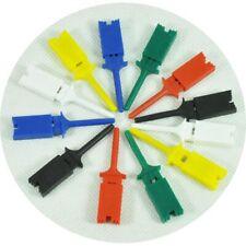 12pcs mini grabber SMD IC Chip test hook clip jumper probe for logical analyzer
