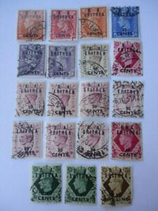 British Occupation Eritrea KGVI 1948-50 A small collection of GB o/p Used stamps