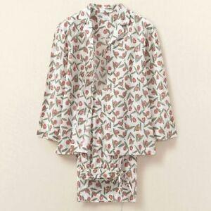 TOAST Womens Rosebud Block Print Pyjamas - White / Coral - Size Small      |85