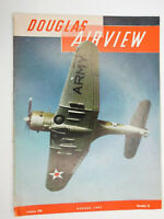 Aug 1941 Douglas Aircraft Airview Employee Magazine WWII Air Force Aviation