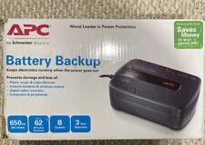 APC BE650G1 Back-UPS 650VA 8-outlet Uninterruptible Power Supply (UPS) BE650G1