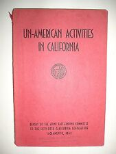 1943 Report of Un-American Activities Commission, State of California, 1st Ed.