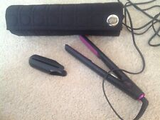 Orchid GHD straightener and case with heat pad