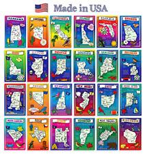 U.s. State Map Postcard Set 50 Modern Post Card Variety Illustrated Postcards