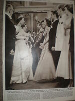 Photo article Queen Elizabeth II 25th Royal Variety Performance 1954 ref X3