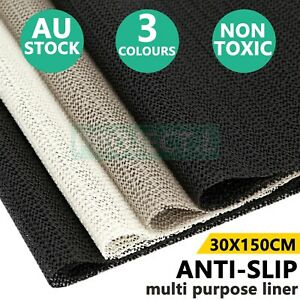 Anti Non Slip Grip Mat Underlay Liner Kitchen Carpet Drawer Cabinet Car Bulk Au